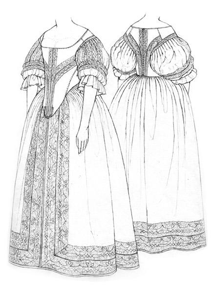 Bodice & petticoat c.1660