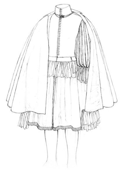 Doublet, breeches & cloak c.1660