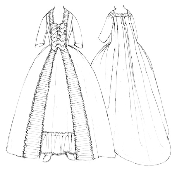 Robe à la Française c.1760