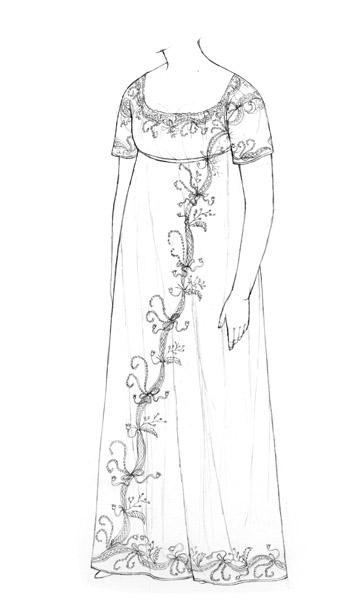 Muslin dress c.1808-11