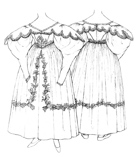 Dinner dress c.1830-6