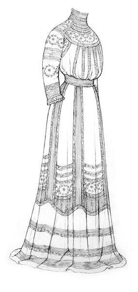 Lingerie dress c.1908-9