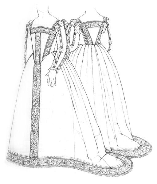 Satin gown c.1562