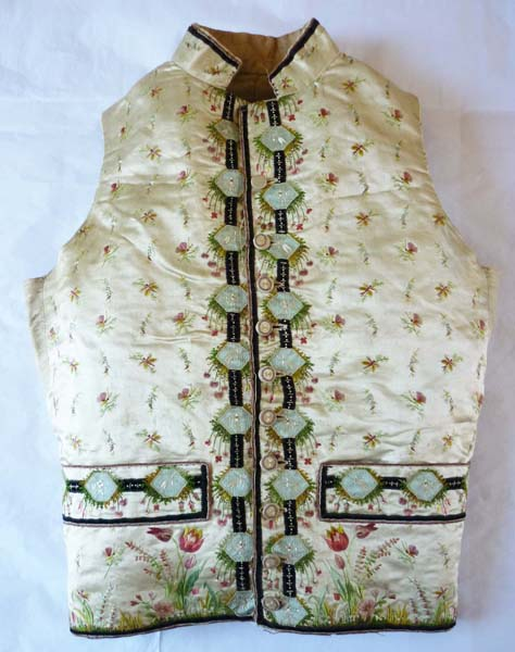 Embroidered waistcoat c1785-90