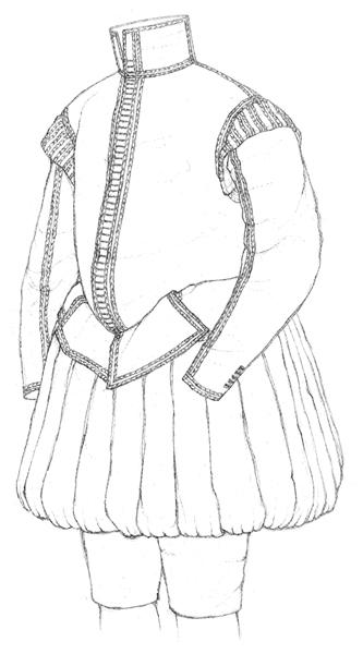 Velvet doublet & hose c.1600